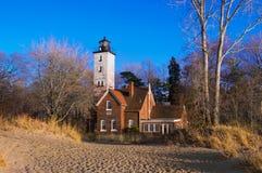 Presque小岛灯塔 免版税图库摄影