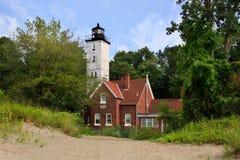 Presque小岛灯塔 库存图片