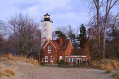 Presque小岛灯塔 库存照片