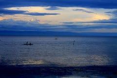 Presque coucher du soleil Images libres de droits