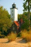 Presque Insel-Leuchtturm stockbild