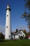 Presque Insel-Leuchtturm Stockfotografie