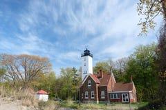 Presque-Inselleuchtturm, im Jahre 1872 errichtet Stockfoto