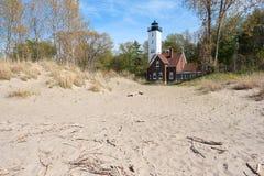 Presque-Inselleuchtturm, im Jahre 1872 errichtet Stockfotografie