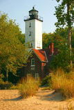 Presque Isle Lighthouse. Lighthouse found on the shore of Lake Erie, in Erie, Pa Stock Image