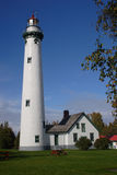 Presque Isle Lighthouse. On Lake Huron in Michigan Stock Photography