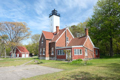 Presque Isle lighthouse, built in 1872 Royalty Free Stock Photos