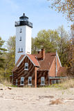 Presque Isle lighthouse, built in 1872 Royalty Free Stock Photo