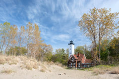 Presque Isle lighthouse, built in 1872 Stock Photos