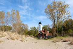 Presque Isle lighthouse, built in 1872 Stock Photography
