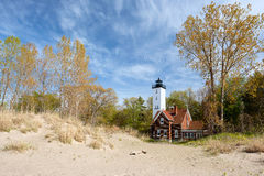 Presque Isle lighthouse, built in 1872 Royalty Free Stock Images