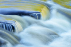 Presque Isle River Rapids. Abstract landscape of the Presque Isle River rapids, captured with motion blur, Porcupine Mountains Wilderness State Park, Michigan's Royalty Free Stock Photos