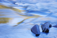 Presque Isle River Rapids. Abstract landscape of the Presque Isle River rapids, Porcupine Mountains Wilderness State Park, Michigan's Upper Peninsula, USA Stock Photo