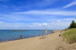 Presque Isle State Park Beach in Erie Pennsylvania royalty free stock image
