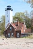 Presque wyspy latarnia morska, budująca w 1872 Zdjęcie Stock