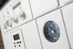 Pressão da caldeira de aquecimento central Foto de Stock Royalty Free