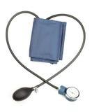 Pressão sanguínea de medição do dispositivo Fotografia de Stock Royalty Free