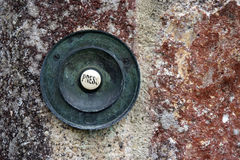 Press. Push button for door entry into home royalty free stock image