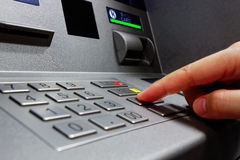 Press ATM EPP keyboard Stock Photos