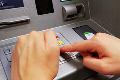 Press ATM EPP keyboard. Close up royalty free stock photo