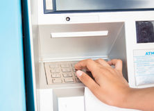 Press ATM EPP keyboard stock images