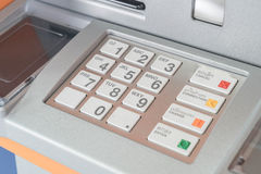 Press ATM EPP keyboard royalty free stock images