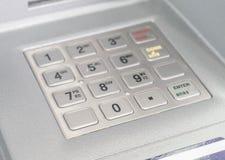 Press ATM EPP keyboard. On machine royalty free stock photo