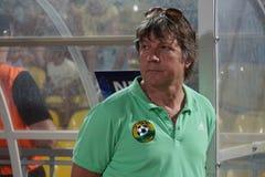 Press attache of fc kuban Vyacheslav Ivanov during a match. Soccer, football, team, rpfl, stadium royalty free stock image