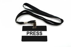 Press badge isolated on white background Royalty Free Stock Image