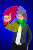 Press blank of pie chart Royalty Free Stock Image