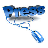 Press in blue Royalty Free Stock Images