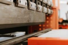 Press brake, production machine stock photography