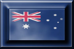 Press button with blending  Australia flag Stock Images