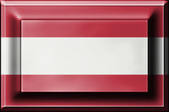 Press button with blending  Austria flag Stock Photography