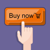Press button buy now Royalty Free Stock Image