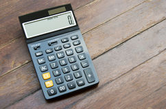 Press the button on the calculator Stock Photography
