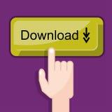 Press button download Stock Photos