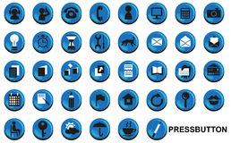 Press buttons Royalty Free Stock Photos