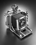 Press camera 4 x 5. 4 x 5 inch film press camera from the 1930ies and 1940ies used by news photographers Royalty Free Stock Photo