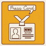 Press card Stock Image