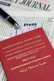 Press cards Stock Photos