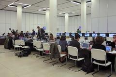 Press center Royalty Free Stock Photos