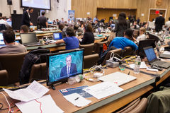 Press Center of 71st session of the United Nations Royalty Free Stock Photo
