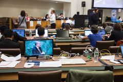 Press Center of 71st session of the United Nations Stock Photo