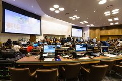 Press Center of 71st session of the United Nations. NEW YORK, USA - Sep 20, 2016: Press Center of 71st session of the United Nations General Assembly in New York stock photo