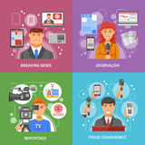 Press Concept Icons Set Royalty Free Stock Photography