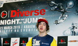 The press-conference announcing world championship in FMX Royalty Free Stock Image