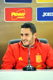 Press conference berfore Romania - Spain friendly football match Royalty Free Stock Photo