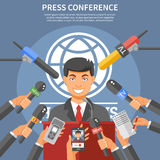 Press Conference Concept Stock Image