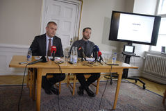 PRESS CONFERENCE ABOUT DANISH GROWTH 2015 Stock Photography